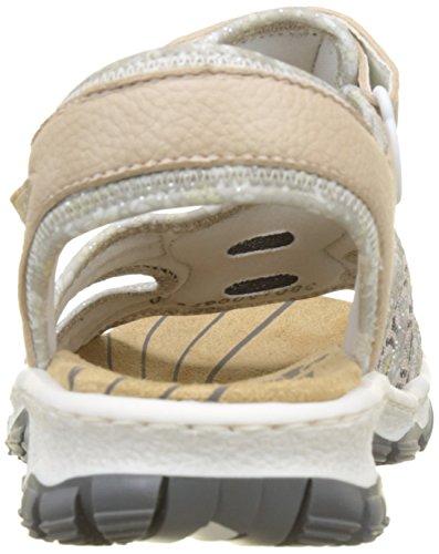 Rieker Women's 68865 Closed Toe Sandals, Rot (Rosa), 8 UK Pink (Rosa/Silverflower/Altrosa 31)