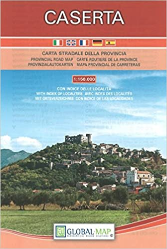 Road Map Of Italy In English.Caserta Italy Provinical Road Map Carta Stradale Della