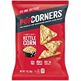 POPCORNERS Carnival Kettle, Popped Corn Chips, Single Serve 1oz (Pack of 40)