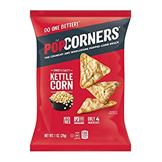 PopCorners Kettle Corn Snack Pack | Gluten Free, Vegan Snack | (40 Pack, 1 oz Snack Bags)
