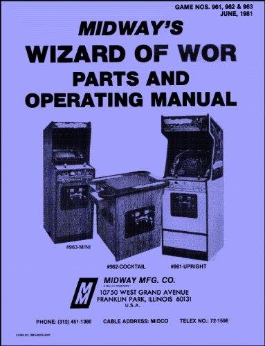 Wizard of Wor Arcade Game Service & Repair Manual