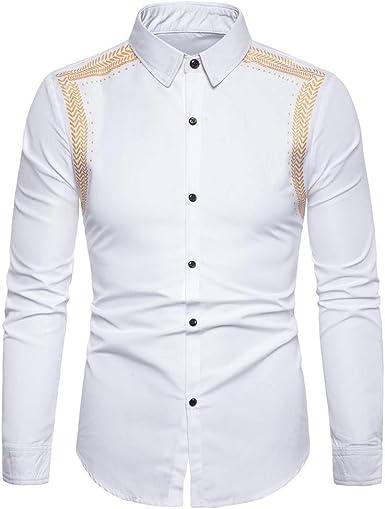 IFOUNDYOU - Camisa de Manga Larga para Hombre, diseño clásico de Negocios, Temporada 2020, Primavera y otoño Blanc5634 3XL: Amazon.es: Ropa y accesorios