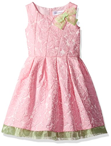 Little Angels Toddler Girls' Fit and Flare Pleated Brocad...