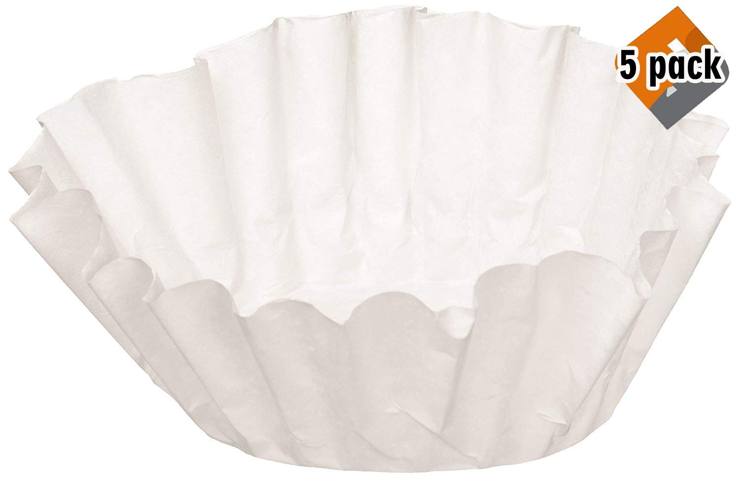 BUNN 6001 12-Cup Commercial Coffee Filters, 500-count, White, 5 Pack