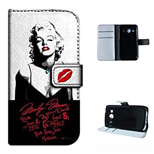 Ace Style LTE G357 case, SoloShow(R) Marilyn Monroe sexy hot pattern Luxury Wallet PU Leather Holder Pouch case for Galaxy Ace Style LTE G357 4.3 inch (love Monroe)