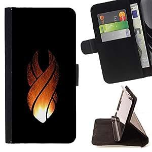 - Flame Crest - - Prima caja de la PU billetera de cuero con ranuras para tarjetas, efectivo desmontable correa para l Funny HouseFOR Sony Xperia M2
