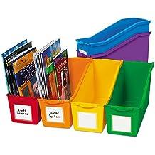 Lakeshore Connect & Store Book Bins - 6-Color Set