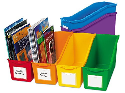 Lakeshore Connect & Store Book Bins - 6-Color Set