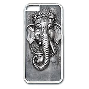 Custom Case with Big Face Ganesh Personalized Back Snap On Case for iPhone 6 4.7 PC Transparent