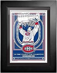 Montreal Canadiens 12x16 Propaganda Framed Artwork