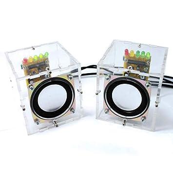 Diy Mini Amplifier Speaker Kit Transparent Speaker Amazon Co Uk