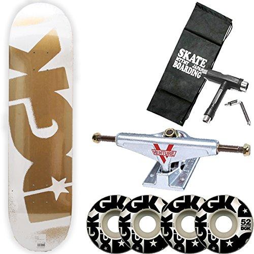 【代引可】 DGK(ディージーケー) PRICE DGK WHITE スケボー コンプリート ベンチャートラックセット ディージーケー PRICE B078BNYPP7 POINT WHITE GOLD 7.8インチ (レンチ+ケースサービス!) スケートボード B078BNYPP7 ベンチャー5.25LOW, 北海道ギフトストア:a40c79c5 --- a0267596.xsph.ru