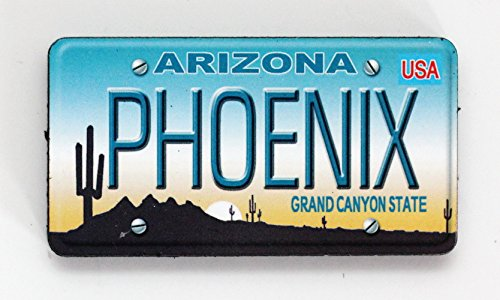 Phoenix Arizona License Plate Wood Fridge Magnet