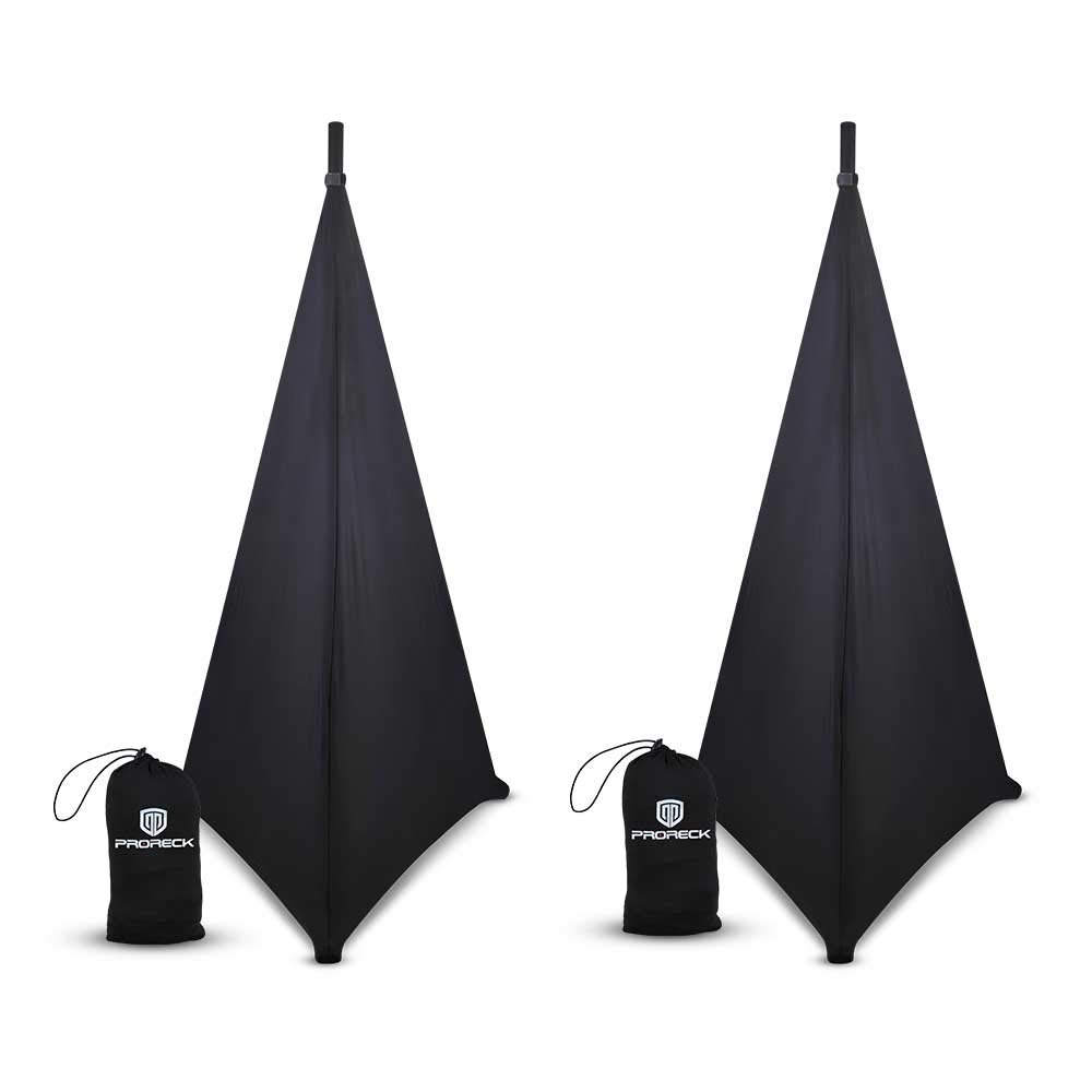 PRORECK Speaker Stand Cover Lighting Stand Skirt 360 Degree Cover Black x 2 by PRORECK