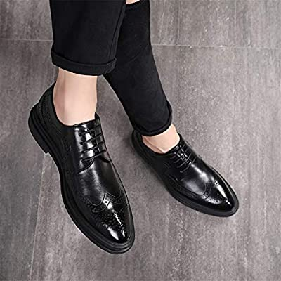 Men/'s Oxfords Dress Formal Pointy Toe Shoes Casual Oxfords Brogues Black