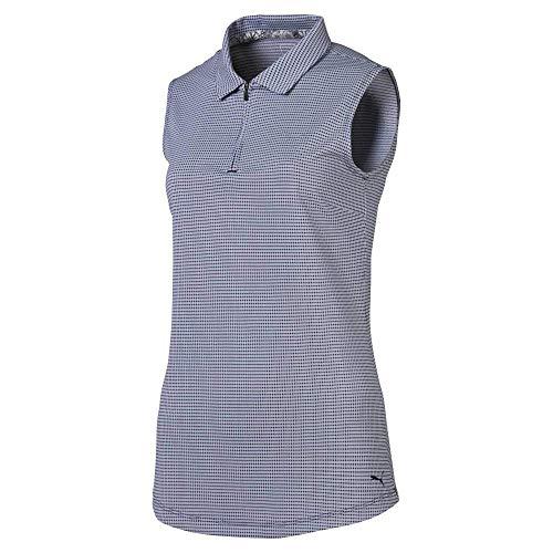 Puma Golf Women's 2019 Checker Sleeveless Polo, Peacoat, x Large