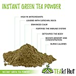 Instant Green Tea Powder - 100% Pure Tea - No Fillers, Additives or Artificial Ingredients of Any Kind 19 ✔ THE BEST GREEN TEA POWDER TO LOSE WEIGHT: Scientific studies have discovered that the main ingredients responsible for green tea slimming effects are caffeine and EGCG (epigallocatechin gallate). ✔ ONE SINGLE INGREDIENT: 100% pure green tea made from ground tea leaves. No flavors, preservatives, colors or fillers of any kind added. Not the diluted, off-tasting chemical filled product you're used to buying in the supermarket. This is as pure as it gets! ✔ HEALTHY ALTERNATIVE TO COFFEE: Minimally processed, and free of additives, Tea Factory Instant Green Tea offers a delicious, easy to consume instant tea that contains over one hundred times more antioxidants as compared to brewed tea.