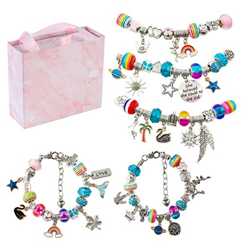 Everything you need to make cute charm bracelets!