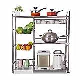 304 stainless steel vegetable shelves / multi-storey floor kitchen microwave oven rack / storage rack