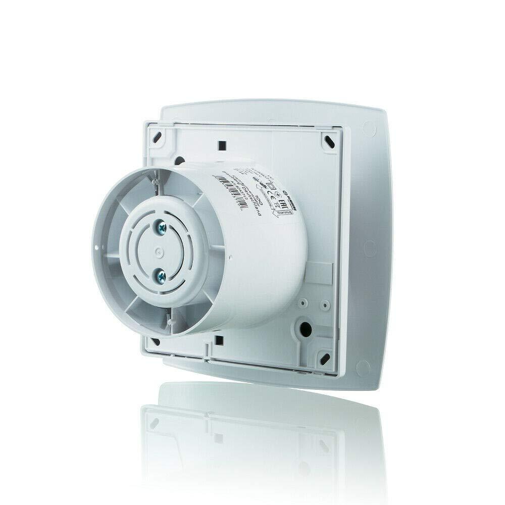 colore: bianco 10 cm Blauberg UK MOON 100 T Aspiratore silenzioso per bagno e doccia