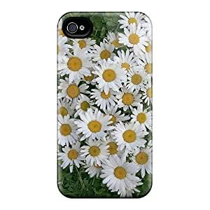 High Quality Shock Absorbing Case For Iphone 4/4s-bunch Of Daisies