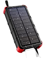 [Quick Charge] OUTXE 20000mAh Rugged Solar Charger (4A Dual Input) USB C Power Bank Waterproof