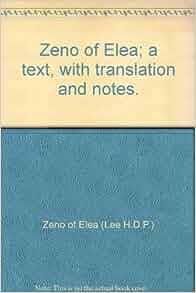Amazon.com: Zeno of Elea; a text, with translation and notes ...