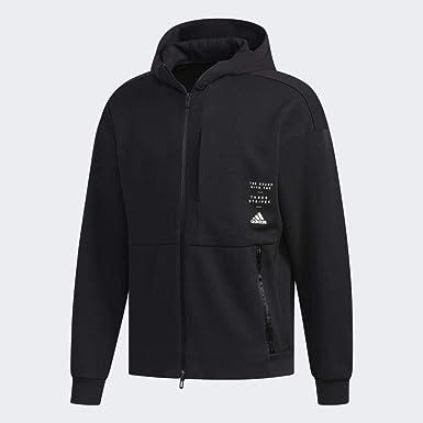 adidas Sports ID Full Zip Hood Felpa con Cappuccio