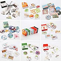 Molshine 320pcs Geometry Stickers Stick Notes Message Strip -Succulents, Baking, Flowers Plant for Personalize Laptops, Skateboards, Luggage, Cars, Bumpers, Bikes, Bicycles,Books-8 Different Styles