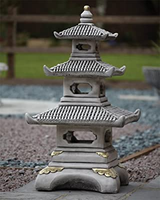 Statues \u0026 Sculptures Online Large Chinese Garden Ornaments , Three Tier  Japanese Pagoda Lantern