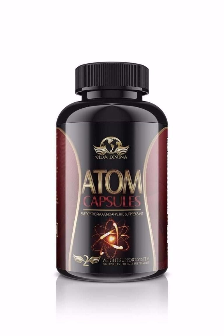 new Popular ''Atom'' Burns Fat Energy Booster Assist with Weight Loss by vida divina atom capsules