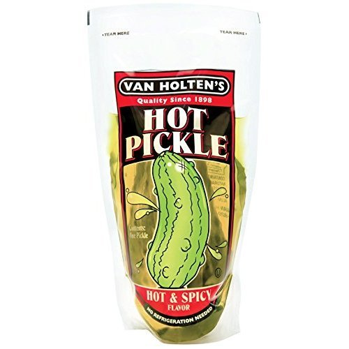Van Holten's - Pickle-In-A-Pouch Large Hot Pickles - 12 Pack