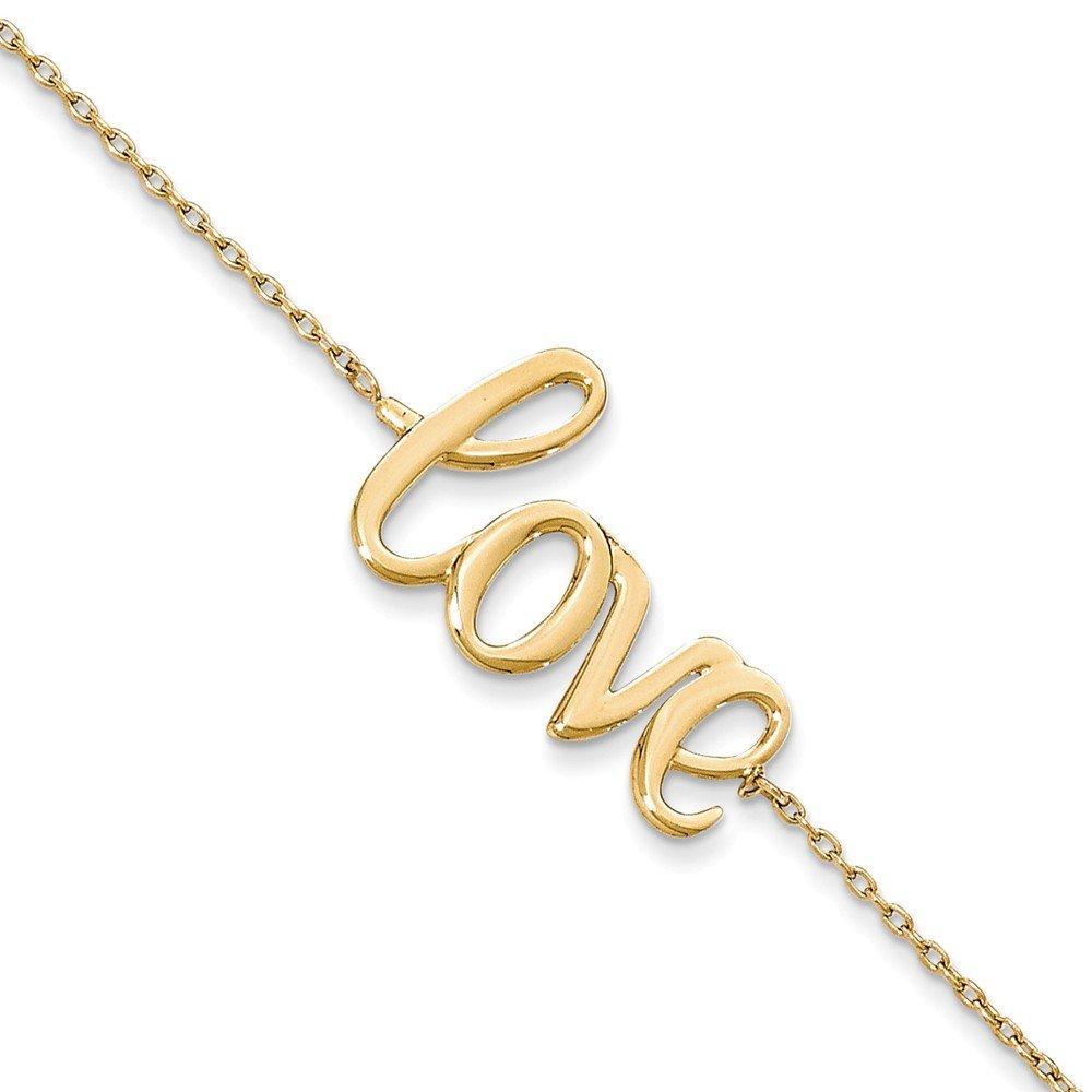 14K Polished LOVE Bracelet