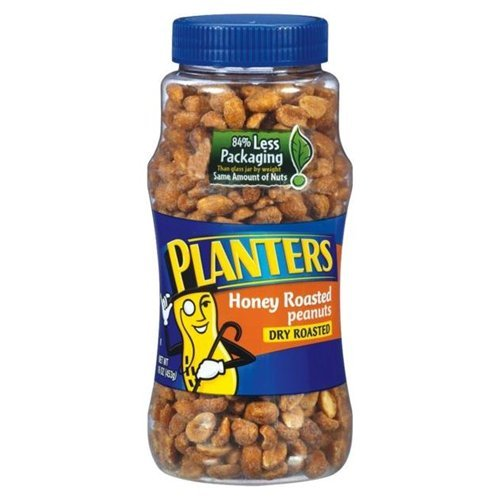 Planters Peanuts Honey Roasted Dry Roasted 16 OZ (Pack of 24)