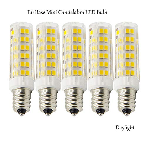 Ashialight 50-Watt E11 Base Light Bulb Dimmable LED Daylight Bulb 120 Volt JD T4 50W E11 Base Mini Candelabra Bulb Halogen Light Bulb (Pack of 5)