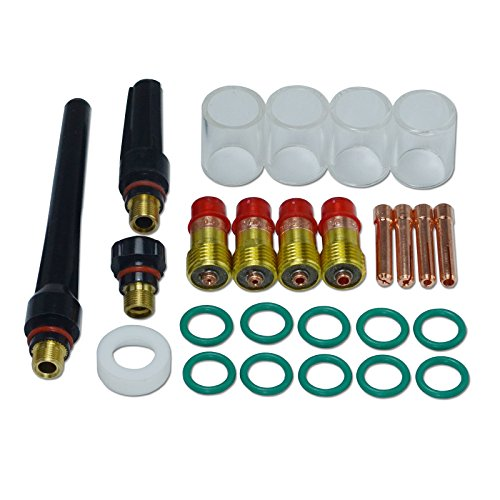 TIG Stubby Gas Lens #10 Pyrex Cup Kit DB SR WP 17 18 26 TIG Welding Torch 26pcs