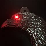 HK MOTO- Chrome Eagle head horn cover For 1992 and up Harley-Davidson with side mount ''cowbell'' and all V-rod's With Red LED Light