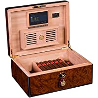 Daniel Marshall 125 Cigar Humidor Burl with Lift out tray installed