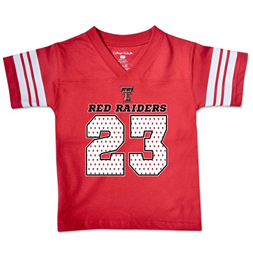 NCAA Texas Tech Red Raiders Toddler Football Tee, 2 Toddler, Red