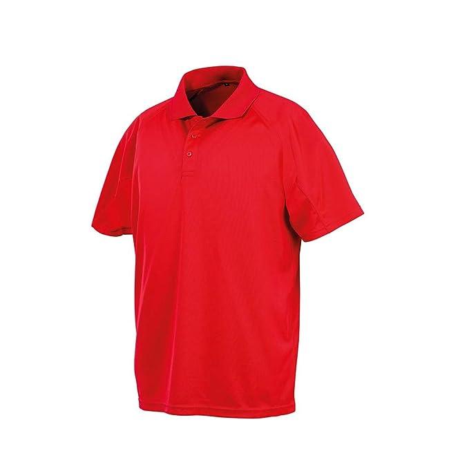 Spiro Impact - Polo Aircool para Hombre (3XL) (Rojo): Amazon.es ...