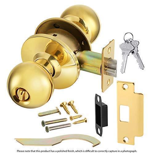 Cylindrical Lock Knob - Commercial Grade 2 Keyed Entrance Door Knob with Cylindrical Lockset, 2 3/4