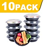 Glotoch Meal Prep Containers, 1 Compartment Food Storage Containers for Meal Prep-Microwave, Freezer & Dishwasher Safe - Eco Friendly Safe Food Container, Pack of 10 (16 Ounce)