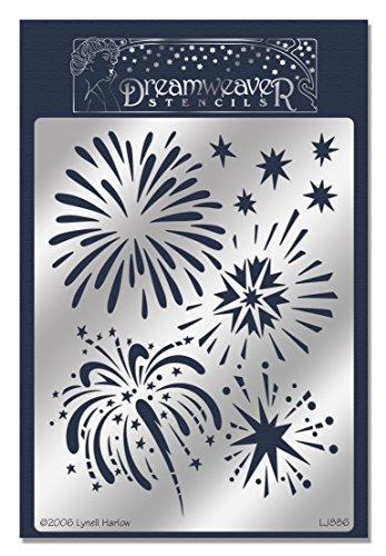 Embossing Metal Stencil (Stampendous Dreamweaver Metal Stencil, Fireworks)