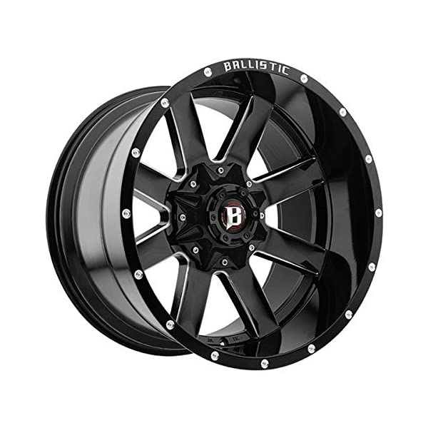 20X12-BALLISTIC-959-RAGE-Bolt-Pattern-6x135mm-and-6x1397mm-or-6x531in-and-6x55in-Offset-44mm-Finish-Gloss-Black-Milled-CB-1061mm-MPN-959212267-44GBX