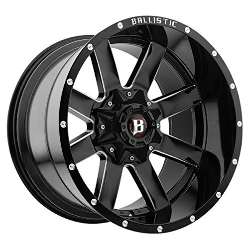 Bolt Pattern: 106.1mm 959212267-44GBX 20X12 BALLISTIC 959 RAGE Offset: CB: Finish: Gloss Black Milled -44mm MPN: 6x135mm and 6x139.7mm 6x5.31in and 6x5.5in or