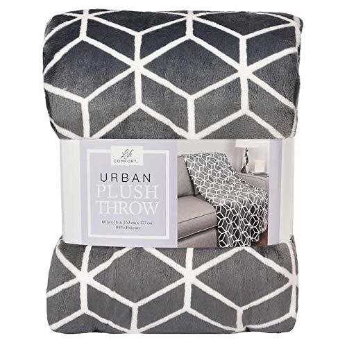 Life Comfort Urban Plush Throw Grey