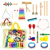 23 Pieces Musical Instruments For Toddlers Kids Muscial Toys With Xylophone,Toddler Musical Instruments Ages 1 3 For Kids Preschool Educational With Carrying Bag
