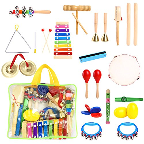 - 23 Pieces Musical Instruments For Toddlers Kids Muscial Toys With Xylophone,Toddler Musical Instruments Ages 1 3 For Kids Preschool Educational With Carrying Bag