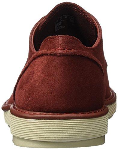 Clarks De Cordones Zapatos Hombre red Fayeman Rojo Suede Lace Para Derby ZZHqrR74xw