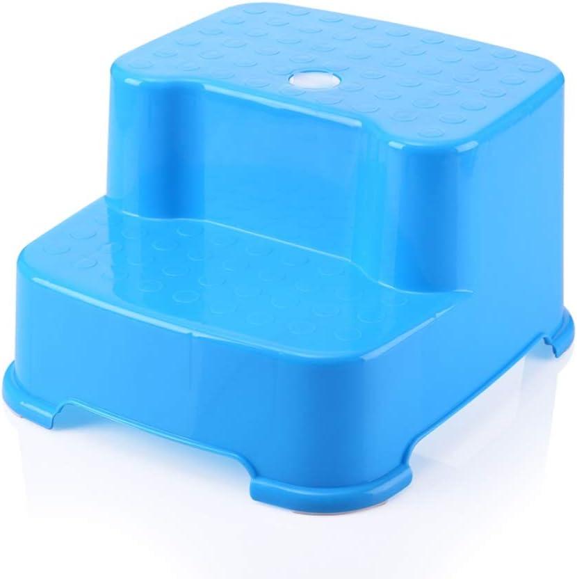 Jiamuxiangsi- Escalera Taburete Taburete de plástico para niños Lavabo Taburete Bebé Banco pequeño Baño Antideslizante Asciende Reposapiés Taburete escalonada Entrenamiento del Inodoro: Amazon.es: Hogar